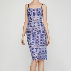 BCBGMaxAzria Alese Geometric Lace Midi Dress